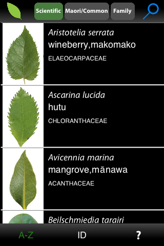 Guide to New Zealand Native Trees for iOS